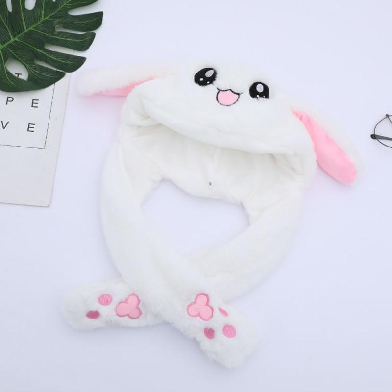 Kaninchen Hut mit Moving Ohren Bunny Hut Ohren Warm Plüsch Süße Nette Airbag Kappe