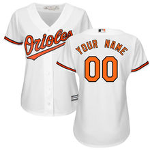 e09bfc0f0 MLB Women s Baltimore Orioles White Home Cool Base Custom Jersey(China)