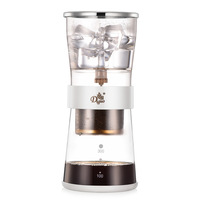 Cold Brew Coffee Dripper Adjustable Ice Drip Dripper with Glass Carafe Coffee Machine Drip Filter Pot