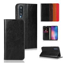 LUCKBUY For Oppo Realme 3 Pro Classic Business Genuine Leather Flip Case for Reno Z K3 Book Design Mobile Phone Cover