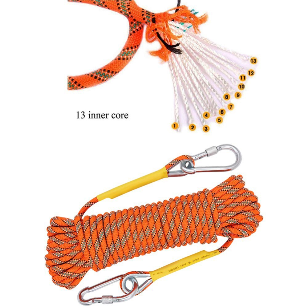 50 M 10.5mm corde d'escalade en plein air équipement d'escalade de glace de roche haute résistance survie Paracord sécurité corde escalade accessoire nouveau