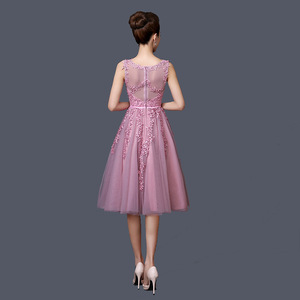 Image 2 - Dongcmy 2020 vestidos curtos de baile, mulheres mini roupa de festa de renda elegante