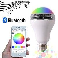 20pcs Lot Smart LED Bulb Bluetooth Speaker LED RGB Light E27 Base Wireless Music Player