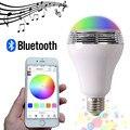 (20 pçs/lote) Smart LED Bluetooth Speaker Lâmpada LED RGB Luz E27 Base de Controle Remoto Leitor de Música Sem Fio com APLICATIVO controle