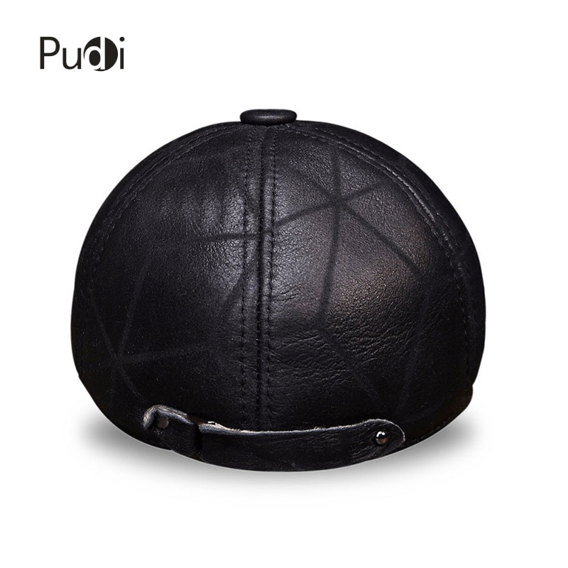 HL113 prava kožna kapa bejzbol kapa zima topla ruska starica beretka - Pribor za odjeću - Foto 5