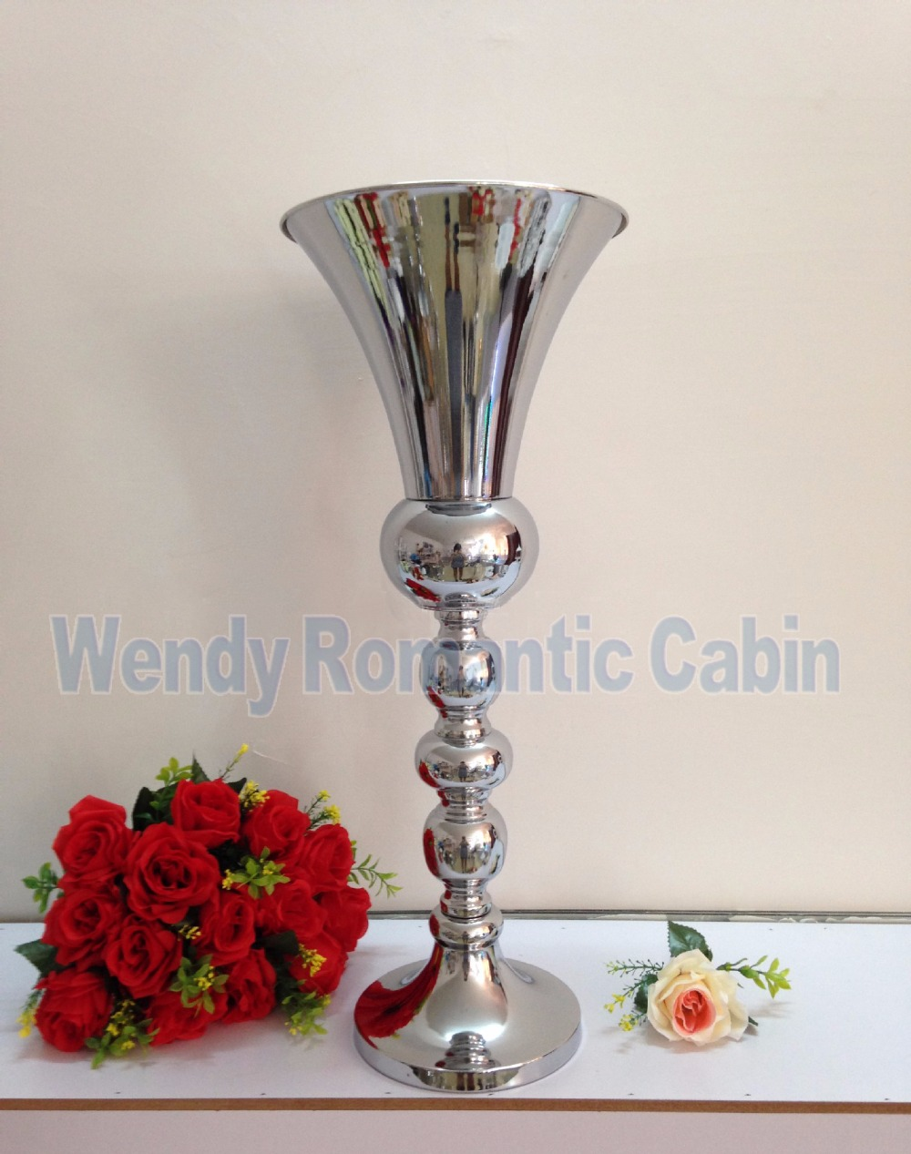 63cm tall wedding flower vase silver metal flower stand table to make sure your package can be arrive faster safer pls leave the clearly shipping detailsif you want make large orderplease contact with me by email reviewsmspy