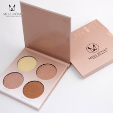 MISS ROSE Brown White Shimmer Face Glow Brighten Concealer Palette Base Minerals Makeup Bronzers Highlighters Contour