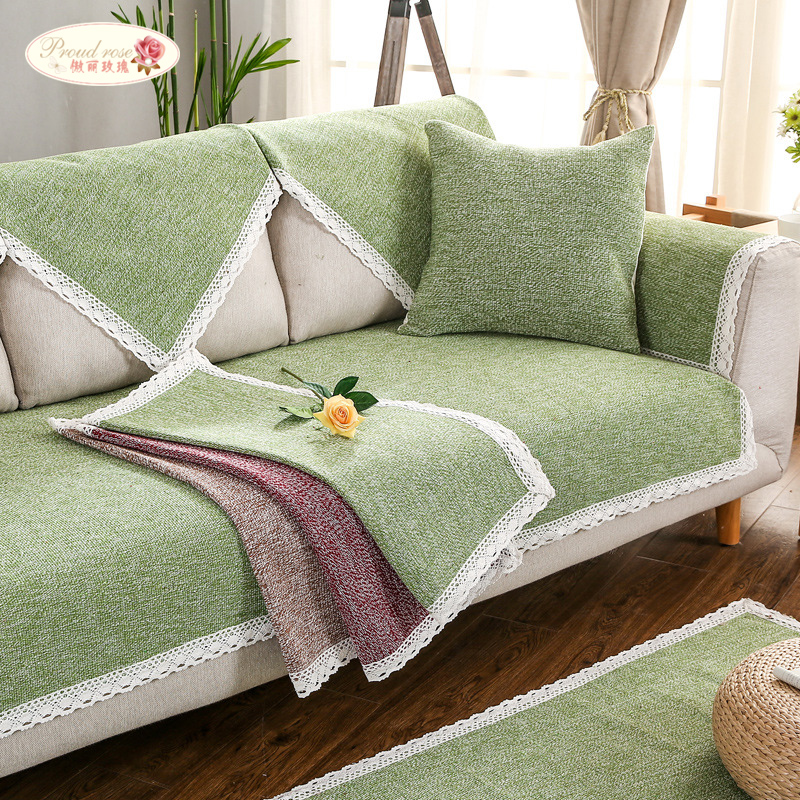 US $18.77 49% OFF|Proud Rose Cotton Linen Sofa Cushions Summer Couch Cover  Thicken Sofa Towel Sofa Cover Combination Sofa Armrest Back Towel-in Sofa  ...
