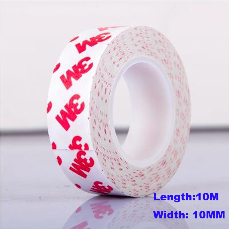Good Quality 2PCS/Lot 10m*10mm High Viscosity Adhesive Tape Double Sided Adhesive Tape Scotch Tape
