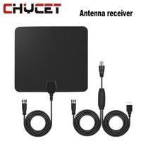 Flat HD TV Amplified Digital Indoor Antenna High Gain HDTV 25 Miles Range ATSC DVB ISDB with Detachable Signal Amplifier