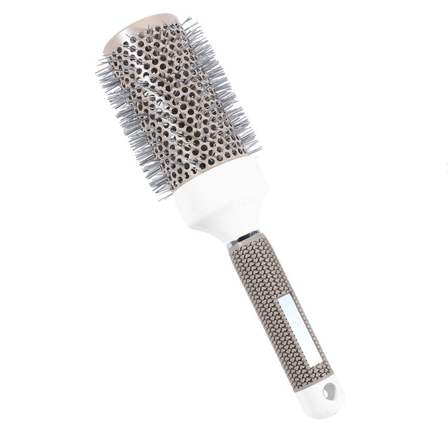 Professional Hair Dressing Brushes High Temperature Resistant Ceramic Iron Round Comb (19mm) 5 size Hair Styling Tool Hairbrush