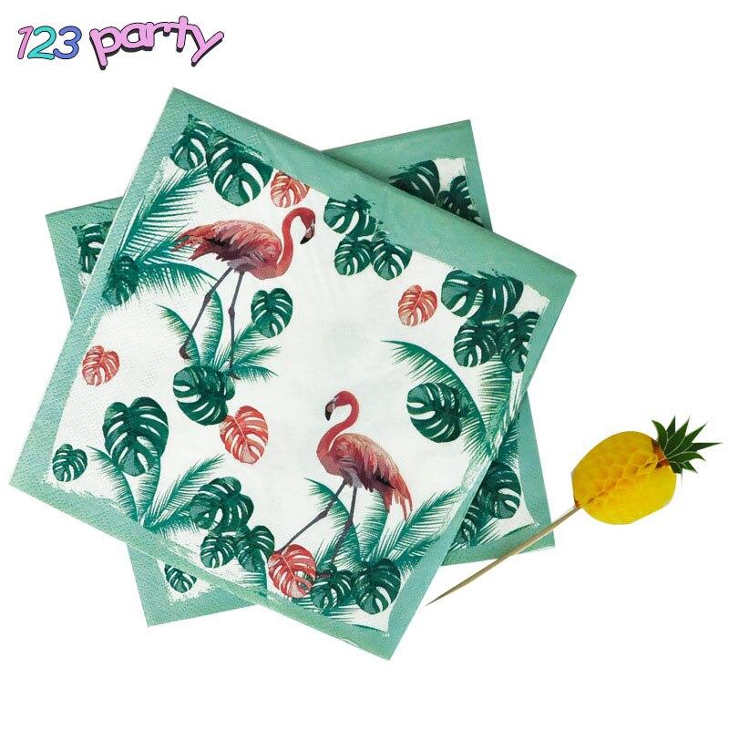 20 Stks Flamingo Thema Verjaardagsfeestje Cartoon Gedrukt Servet Drie Layer Geur Gratis Papieren Handdoek Partij Bruiloft Decoratie Delicious In Taste
