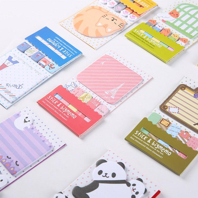 Cute Kawaii Cat Panda Memo Pad Note Vintage Tower Notepads For Kids Gift School Supplies Student 3853 Excellent Quality
