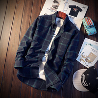 Free Shipping High Quality New Fashion 2014 New Men S Long Sleeve Shirts Winter Men Plaid