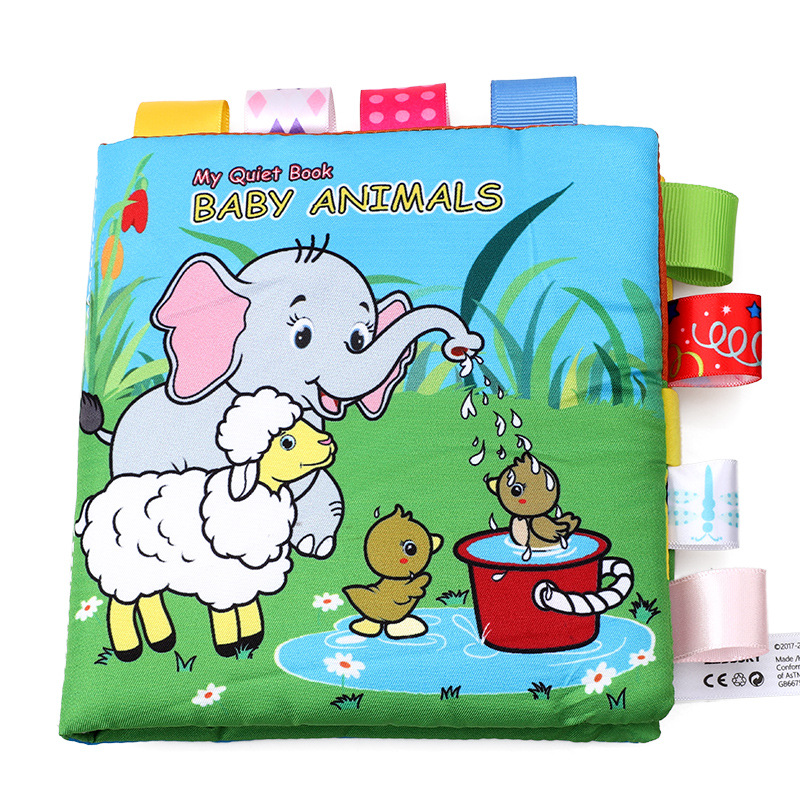 Animal Baby Books Label Cloth Sounding Paper Parent-child Interaction Infant Early Education Book For Newborn Kids With BB Call