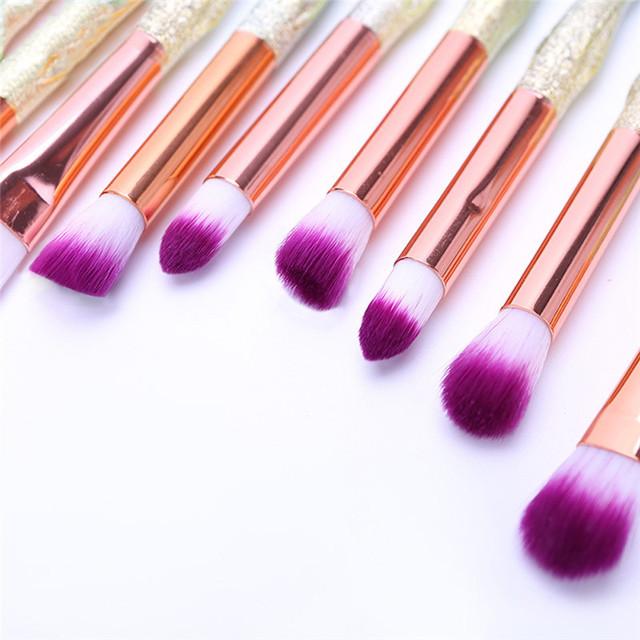 Diamond Rainbow Makeup Brushes Professional Concealer Eyelashes Eye Shadow Brush Set Soft Hair Face Eye Make Up Brushes HOT