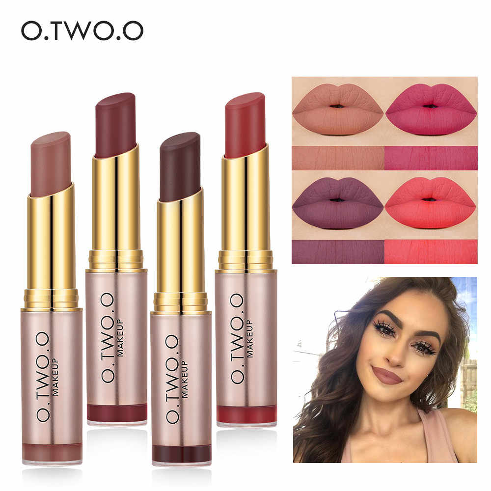 O.TWO.O 20 Colors Waterproof Matte Lipstick Sexy Nude Lip stick Tint Liquid Lipgloss Makeup Long Lasting Glitter Lip Cosmetics