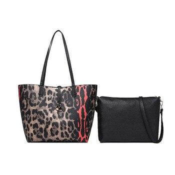 ETONTECK bolso compuesto de gran capacidad para mujer bolso de mano de alta calidad para mujer bolso de mano de leopardo de moda bolso de hombro para mujer