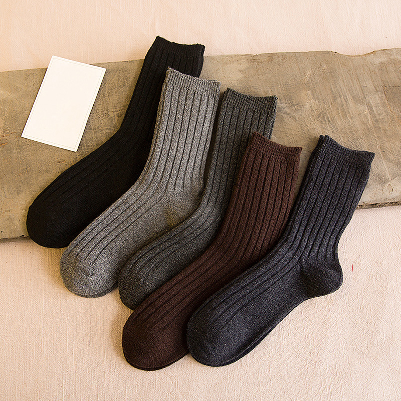 Men winter winter wool socks tide mens tube socks winter warm thickened long