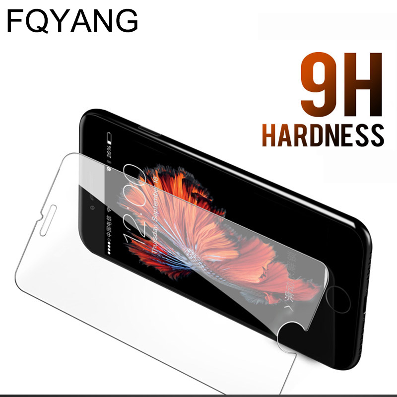 FQYANG 0.26MM 9H Tempered Glass For IPHONE XR XS MAX X 8 7 6S 6 PLUS 5 5S 5C 5SE 4 4S 7P Tempered Glass Premium Protective Film