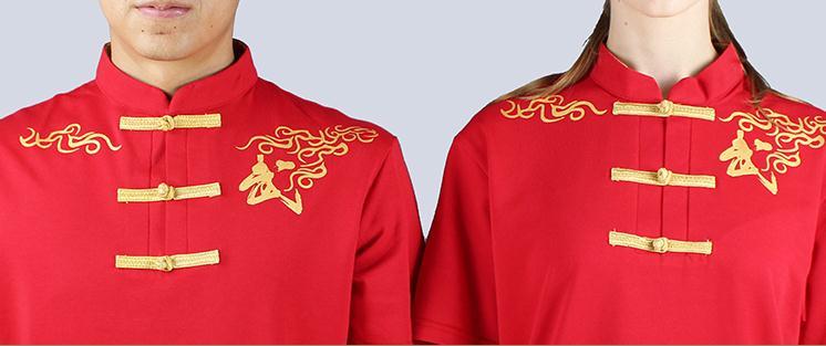 Oprecht Unisex Hoogwaardige Katoen Lente & Herfst Vechtsport Wushu Uniformen Kung Fu Tai Chi Tee Shirts Suits Rood/zwart De Mondholte Schoonmaken.