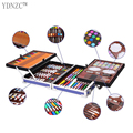 Double aluminum box painting set watercolor With Water Brush Pen Color lead Portable Watercolor Pigment For Drawing Art Supplies