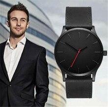 цены New Man Watch Men Fashion Simple Watches Men's Quartz Casual Wristwatch Leather Male Clock horloges mannen reloj hombre 2019