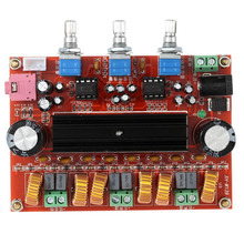 лучшая цена New Top Quality TPA3116D2 50Wx2+100W 2.1 Channel Digital Subwoofer Amplifier Board 12V-24V Power