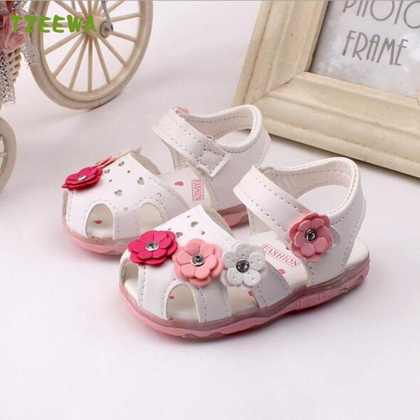 Children Shoes Girl Fashion Flower Baby Girls Sandal Princess Shoes Kids Beach Sandals Baby Toddler Shoes Bebek Ayakkabi