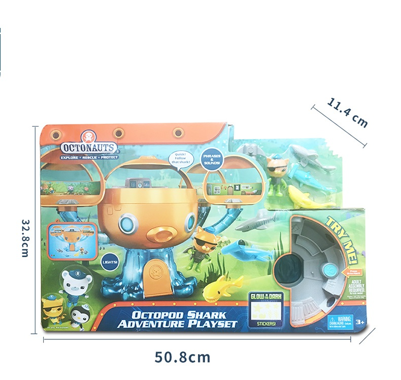NEW!!! Free shiping by SPSR  1 set  new style original Octonauts Oktopod Splelset figure toy  with original box child Toys