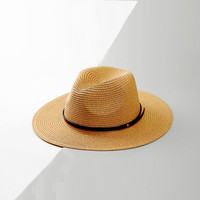 Maylisacc Sun Hats Panama Hat For Summer Women Man Beach Jazz Straw Hat For Men UV Protection Cap Chapeau Femme Hat Sombrero