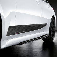 2 шт. автомобильный стиль M производительность боковая полоса юбка наклейка для порога наклейка для BMW 3 серии-G20 аксессуары