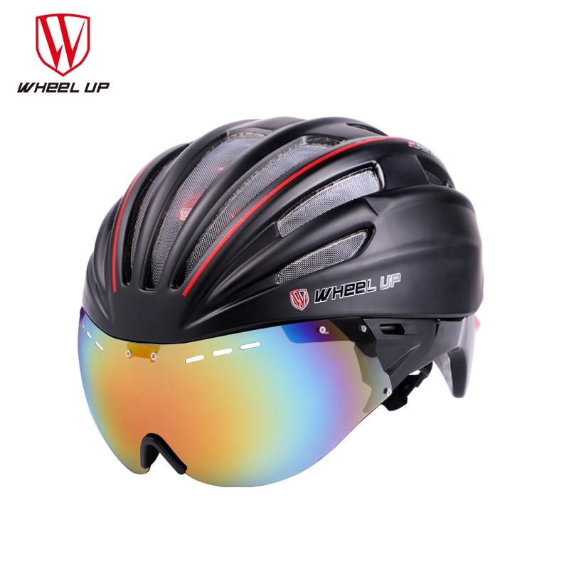 Wheel up new integrally aerodynamic eps lens cycling helmet ultra light mountain bike helmet mtb bicycle