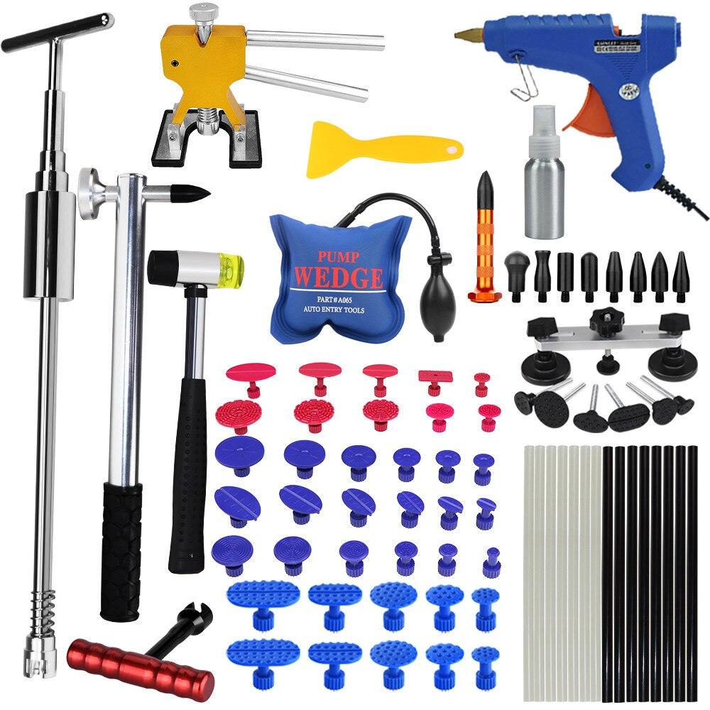 PDR Outils Pour Voiture Kit Instruments De Voiture Corps Kit De Réparation Dent Puller Débosselage Lifter Outil Ensemble Ventouse Pour voiture Bosses