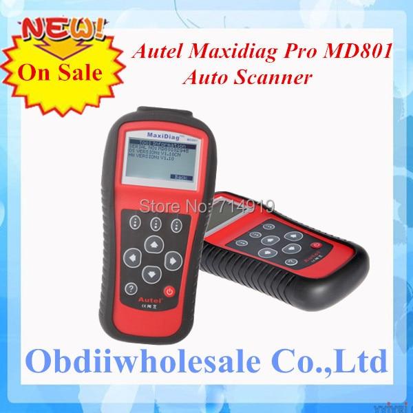 DHL Free Ship MD801 code reader 2017 Autel pro MD 801 maxidiag 4 in 1 scan tool MD 801 scanner(JP701 + EU702 + US703 + FR704)