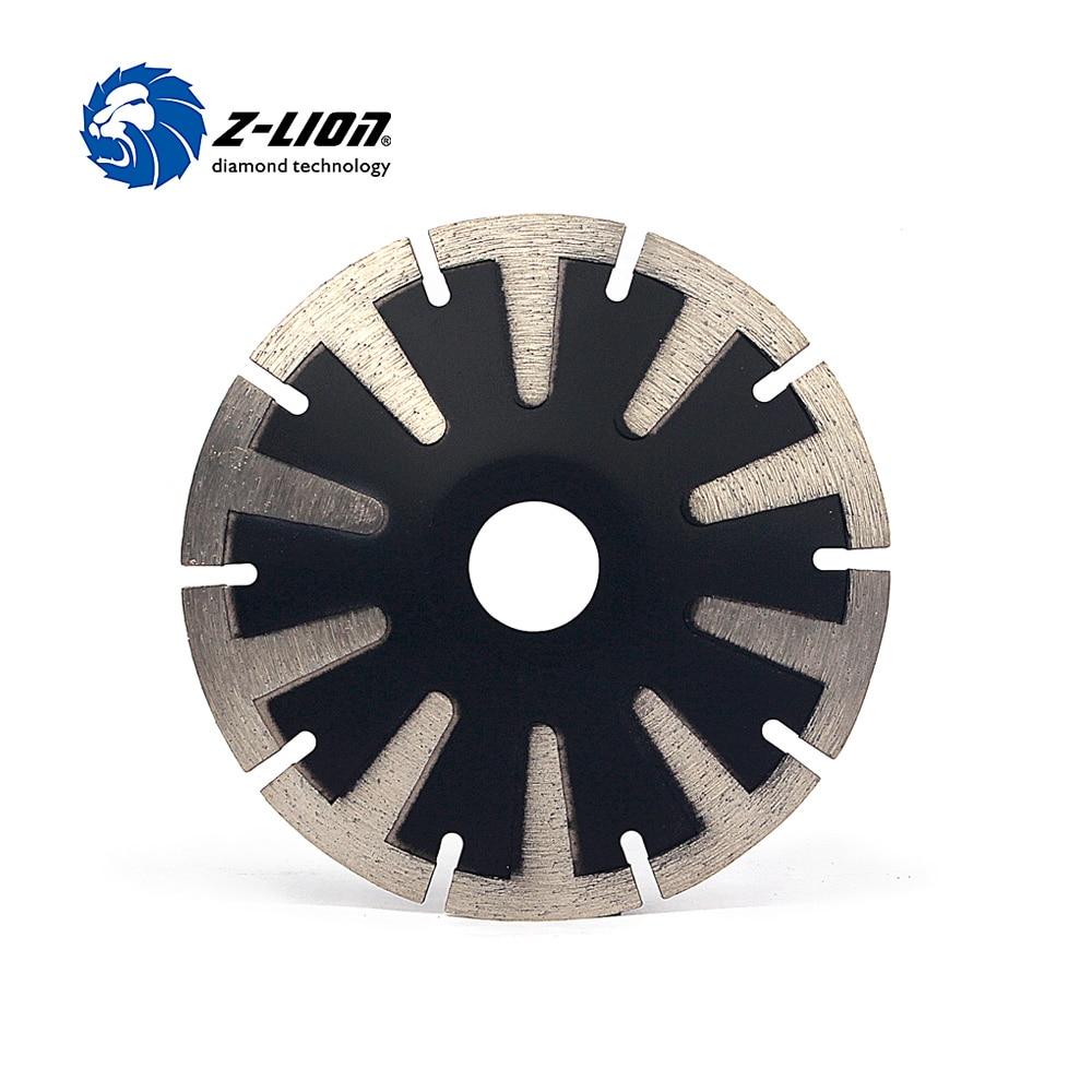 "Z-LION 5"" T-Segmented Concave Blade Diamond Blade For Curved Cutting Turbo Rim 125mm Granite Stone Cutting Diamond Tools"