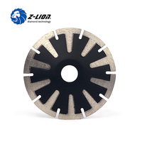 Z LION 5 T Segmented Concave Blade Diamond Blade For Curved Cutting Turbo Rim 125mm Granite