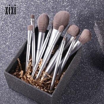 2019 10pcs/set Champagne makeup brushes set for cosmetic foundation blush eyeshadow kabuki blending make up brush beauty tool фото