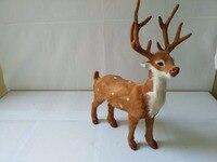Simulation Deer Model Large 25x9x35cm Polyethylene Real Furs Handicraft Figurines Home Garden Decoration Toy Gift A1805