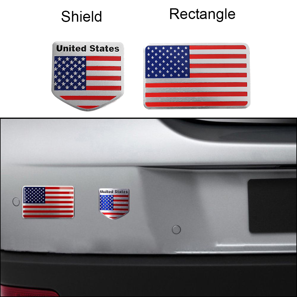 1 Piece US American Flag 3D Car Sticker Decor Decal Metal Badge Emblem Adhesive