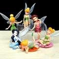 6 шт. / серия аниме комикс Tinkerbell изображение очаровательны фигурки Toyfor дети девочка подарок