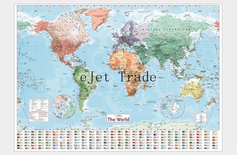 Online get cheap wall stickers world map aliexpress alibaba group 98 x68 cm large world geography map wall stickers original creative art bedroom home decorations walls gumiabroncs Image collections