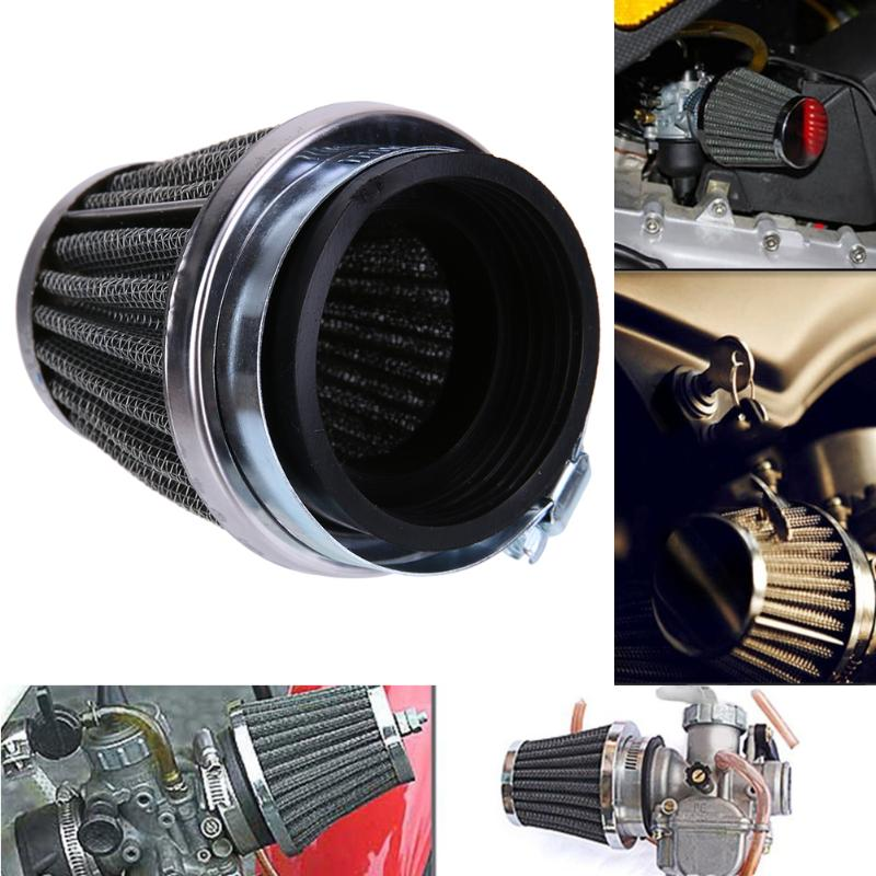 Universal Motorcycle Air Intake Filter Cleaner 35/44/50mm 2 Layer Steel Net Filter Gauze Motorcycle Clamp-on Air Filter Cleaner cnspeed air intake pipe kit for ford mustang 1989 1993 5 0l v8 cold air intake induction kits with 3 5 air filter yc100689
