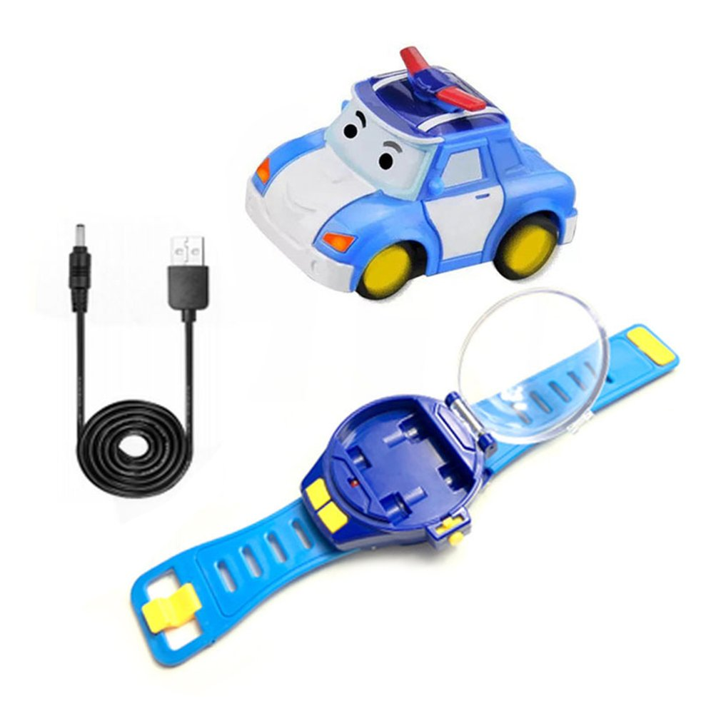 OCDAY RC Mini Cartoon Watch Car Gravity Sensing Remote Control Toy Car with Rechargeable Watch Children Toy for Boys Girls Gift