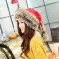 Winter women's hat muffler scarf dual yarn female knitted hat