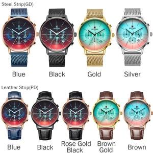 Image 5 - 2020 nova moda cor de vidro brilhante relógio masculino topo de luxo marca cronógrafo masculino aço inoxidável relógio de negócios relógio de pulso