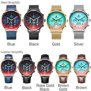 Image 5 - 2020新ファッションカラーガラス高級ブランドクロノグラフ男性のステンレス鋼ビジネス時計男性腕時計時計