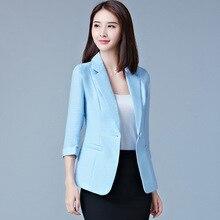 Korean Style Fashion Women Thin Type Summer Leisure Office Working Coats Jackets