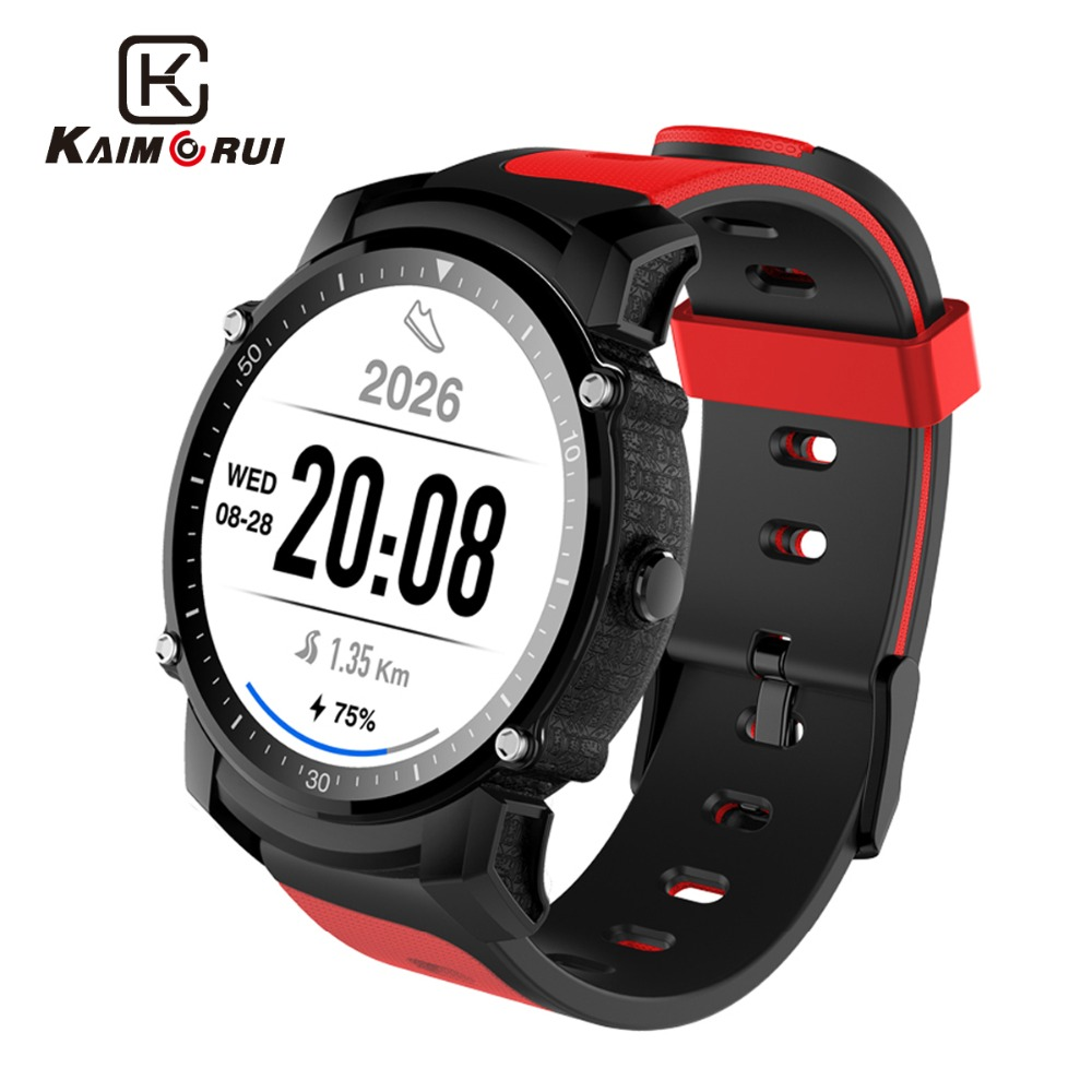 Kaimorui Smart Watch MTK2503 IP68 Waterproof Bluetooth Watch GPS Heart Rate Fitness Tracker Multi-mode Sport Smartwatch fs08 gps smart watch mtk2503 ip68 waterproof bluetooth 4 0 heart rate fitness tracker multi mode sports monitoring smartwatch