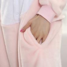 Women Onesie Animal Lovely Pig Pajama Adult Party Jumpsuit Birthday Gift Winter Warm Sleepwear Girls Cartoon Pink Casual Suit